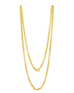 "24k Gold Plated Chain (4.7mm) 29.5"" Necklace by ACROSS THE PUDDLE"