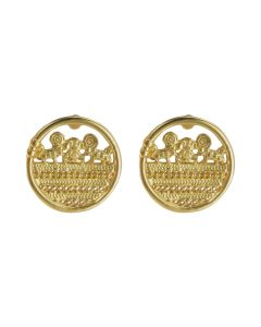 Sinu Filigree Coin Drop Earrings by ACROSS THE PUDDLE
