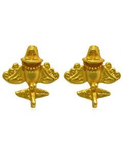Pre-Columbian Golden Jet-7 / Ancient Aircraft-7 /Golden Flyer-7 Drop Earrings