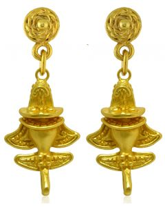 Pre-Columbian Golden Jet-8 / Ancient Aircraft-8 /Golden Flyer-8 Dangle Earrings