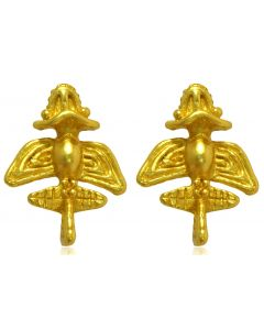 Pre-Columbian Golden Jet-10 / Ancient Aircraft-10 /Golden Flyer-10 Drop Earrings