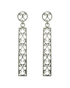 Filigree Handmade .950 Silver Late Roman Style Dangle Earrings