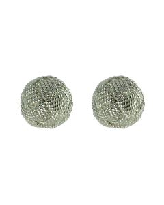 Braided Filigree Ball 950 Silver Stud Earrings (Multiple Options)