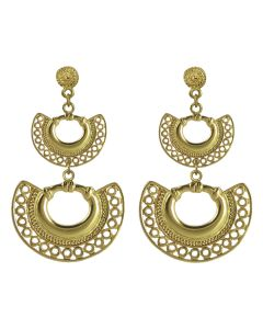 Pre-Columbian Embossed Tairona Nose Rings Earrings by ACROSS THE PUDDLE
