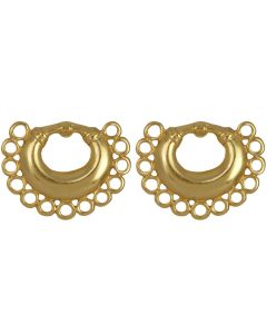 Tairona Nose Ring with Circles Earrings by ACROSS THE PUDDLE