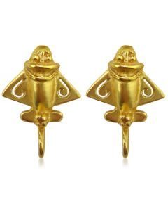 Ancient Aliens Jewelry Collection, Golden Jet Drop Earrings