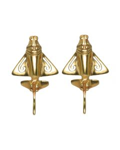 Golden Jet Silver 24k GP Drop Earrings