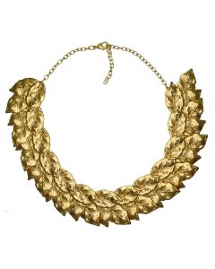 24k Gold Plated Leaves Necklace