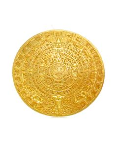 Aztec Solar Calendar Pin/Pendant by ACROSS THE PUDDLE