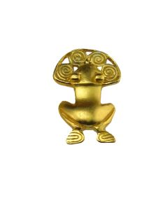 re-Columbian Frog with Spirals Lapel Pin