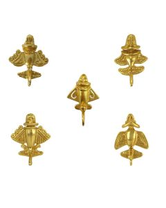 Pre-Columbian Five Golden Jet Military Pins Bundle by ACROSS THE PUDDLE