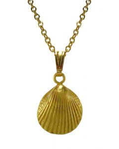 24k Gold Plated Seashell Pendant by Across The Puddle
