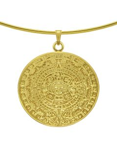 Aztec Solar Calendar Pendant by ACROSS THE PUDDLE