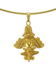 Ancient Aliens Jewelry Collection - Golden Jet-9 Omega Choker Necklace