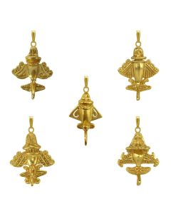 Five Golden Jet Pendants Bundle-2 by ACROSS THE PUDDLE
