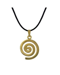 Quimbaya Long Life Spiral Pendant (S) by ACROSS THE PUDDLE