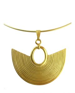 Omega Choker Necklace with a Sinu Striped Nose Ring