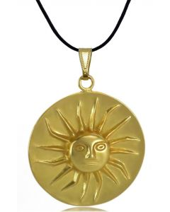 Pre-Columbian Muisca Shining Sun (L) Pendant by ACROSS THE PUDDLE