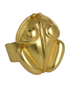 Pre-Columbian Staring Frog Re-Sizable Ring by ACROSS THE PUDDLE